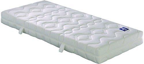 Badenia Irisette 03888350203 Matratze Lotus, Tonnentaschenfederkern Polyester, 220 x 90 x 20 cm, weiß