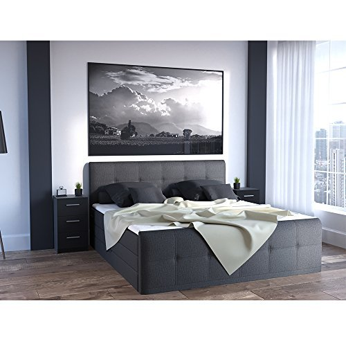 m bel24 nachtkommode f r boxspringbett 2 er set 66cm hoch. Black Bedroom Furniture Sets. Home Design Ideas