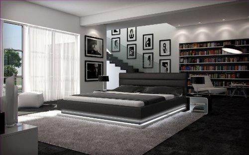Designerbett Ripani 180 x 200 cm Bett Schwarz/Weiß modernes Design Doppelbett Ehebett Bettrahmen