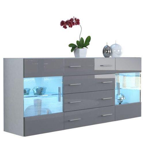 sideboard kommode bari v2 korpus in wei matt front in. Black Bedroom Furniture Sets. Home Design Ideas