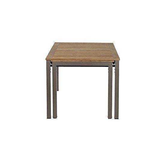 m bel24 siena garden 254847 ausziehtisch geneva 160 260x90cm aluminium gestell bronze. Black Bedroom Furniture Sets. Home Design Ideas