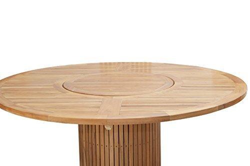 plo gartentisch rund 160 cm f r 7 8 personen teakholztisch mit drehteller 90 cm rund. Black Bedroom Furniture Sets. Home Design Ideas