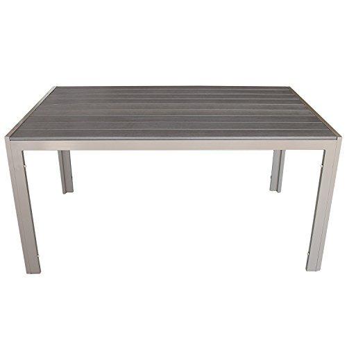 wohaga aluminium esstisch gartentisch mit polywood non. Black Bedroom Furniture Sets. Home Design Ideas