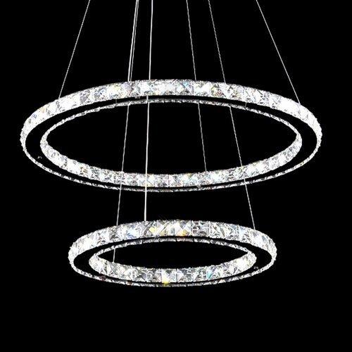 vingo 64w 2 ringe led deckenleuchte kreative kronleuchter designleuchte dimmbar mit. Black Bedroom Furniture Sets. Home Design Ideas