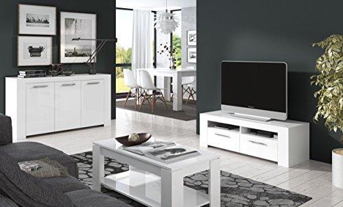 g n rique kendra couchtisch mit herausklappbarer platte 100 cm wei hochglanz m bel24. Black Bedroom Furniture Sets. Home Design Ideas