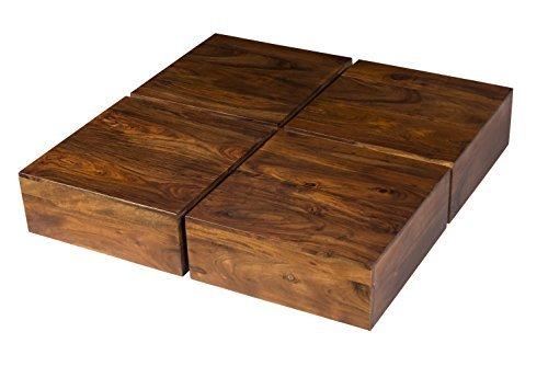 m bel24 m bel g nstig woodkings couchtisch amberley 80x80cm holz akazie braun echtholz. Black Bedroom Furniture Sets. Home Design Ideas