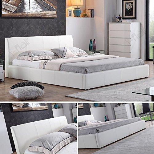 i-flair® - Designer Polsterbett, MONACO Bett 180x200 cm weiß - alle Farben & Größen