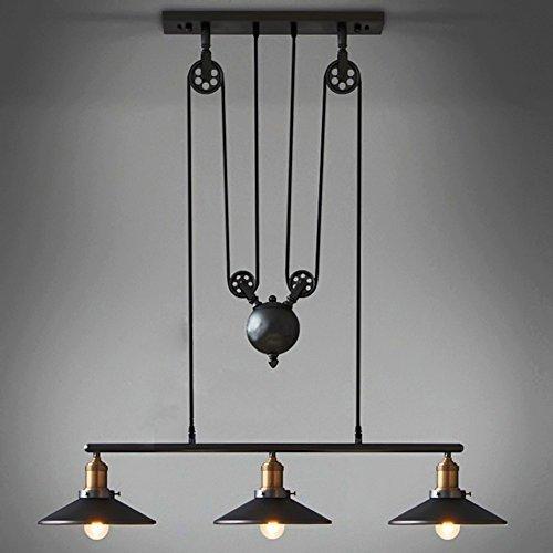 Vintage Industrie Metall Deckenleuchte Bronze Bar Deckenleuchte Schatten Pendelleuchte Retro