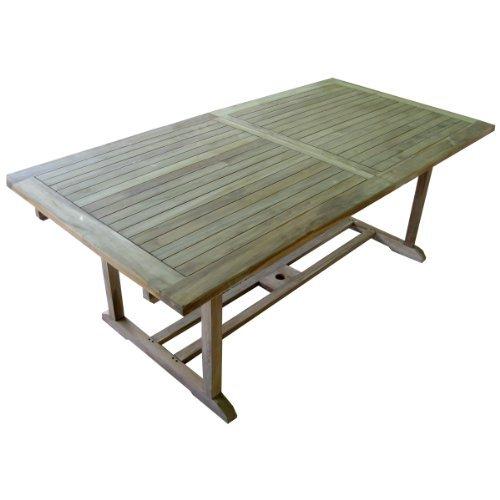 Ausziehbarer Teaktisch Gartentisch 160/220 x 100 x 75 cm massiv und stabil