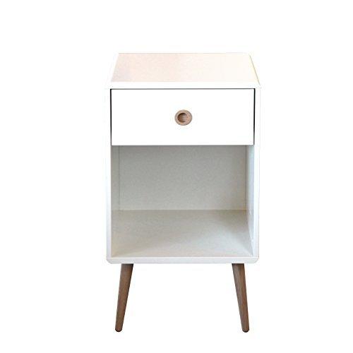 Steens Furniture 3600010050000F Nachttisch Soft Line,73 x 41 x 40 cm, MDF weiß