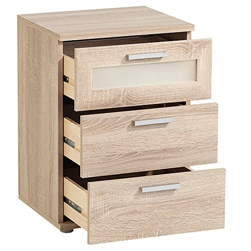 nachttisch nachtschrank nachtkommode mary f r boxspringbett 45 x 53 x 38 cm in sonoma eiche. Black Bedroom Furniture Sets. Home Design Ideas