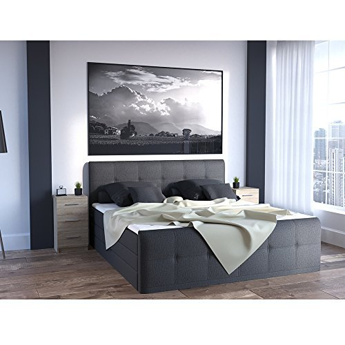nachtkommode f r boxspringbett 66cm hoch sonoma nachtschrank nachttisch kommode schrank bequem. Black Bedroom Furniture Sets. Home Design Ideas