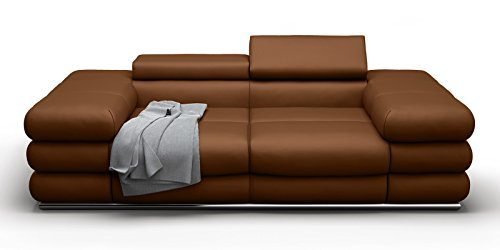 2 sitzer sofa ledersofa braun lyon braun teilleder xxl couch m bel24. Black Bedroom Furniture Sets. Home Design Ideas