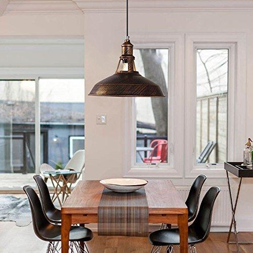 baycheer vintage pendelleuchte in rostbraun e27. Black Bedroom Furniture Sets. Home Design Ideas
