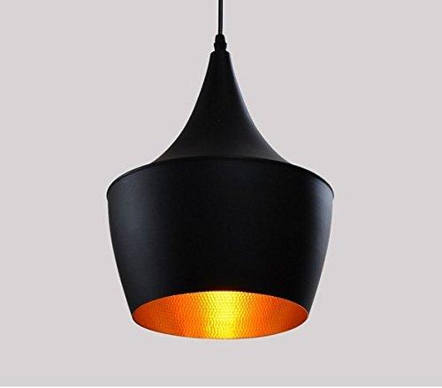 Moderne Industrie beleuchtung Metall Schatten Loft Pendelleuchte Retro-Deckenleuchte Vintage-Lampenschirme Retro Lampe Shade Loft Coffee Bar Küchenhänge Ppendelleuchte (schwarz (typ B))