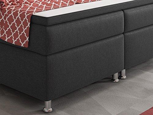 boxspringbett king size xl 180x200 cm webstoff anthrazit m bel24. Black Bedroom Furniture Sets. Home Design Ideas