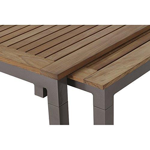 siena garden 254847 ausziehtisch geneva 160 260x90cm aluminium gestell bronze tischplatte. Black Bedroom Furniture Sets. Home Design Ideas