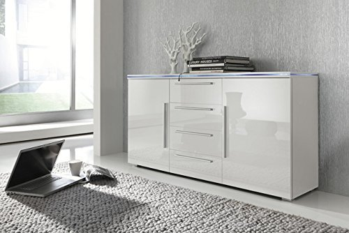 kommode leverkusen wohnzimmerschrank sideboard mit led rgb. Black Bedroom Furniture Sets. Home Design Ideas