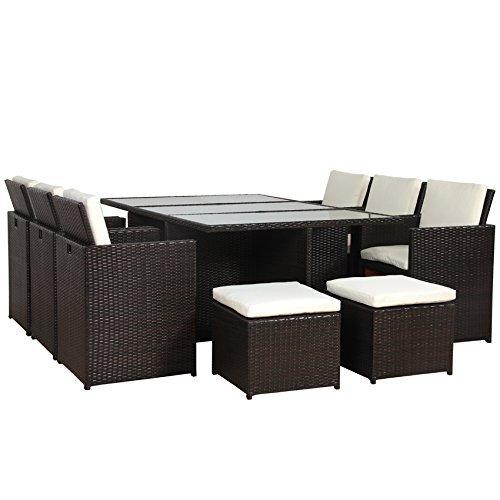 poly rattan lounge gartenset braun sofa garnitur polyrattan alu kein bausatz m bel24. Black Bedroom Furniture Sets. Home Design Ideas