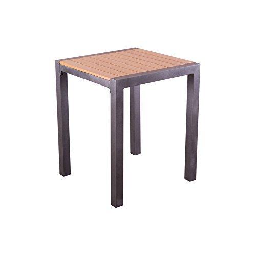 gartentisch 70x70 cm polywood holz esstisch mit alu gestell tischplatte schwarz natur m bel24. Black Bedroom Furniture Sets. Home Design Ideas
