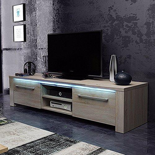 tv schrank lowboard sideboard conoy mit led sonoma eiche m bel24. Black Bedroom Furniture Sets. Home Design Ideas