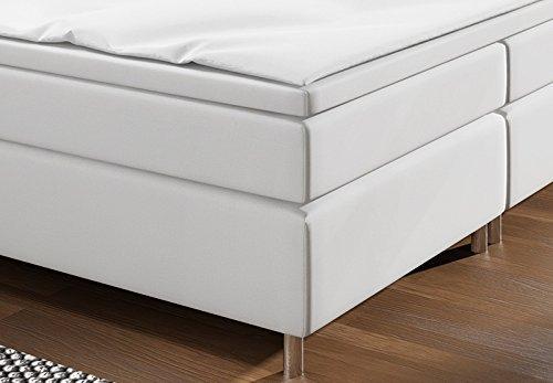 m bel24 m bel g nstig boxspringbett mit led beleuchtung und chromleisten hotelbett doppelbett. Black Bedroom Furniture Sets. Home Design Ideas
