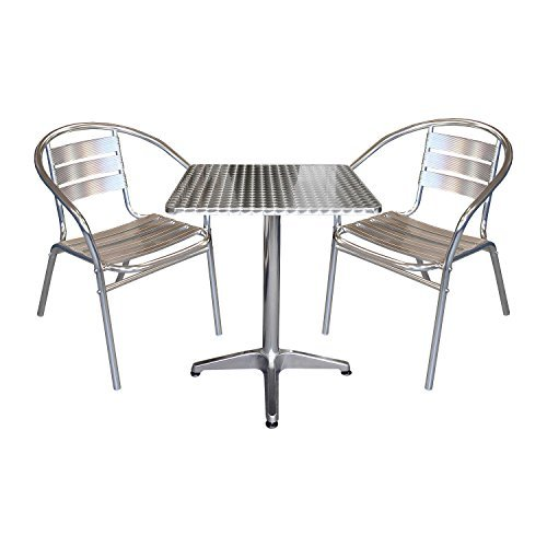 3tlg-Gartenmbel-Balkonmbel-Terrassenmbel-Bistro-Set-2x-Aluminium-Bistrostuhl-Stapelstuhl-Bistrotisch-Klapptisch-60x60cm-Gartengarnitur-Sitzgruppe-Sitzgarnitur-Bistrombel-0