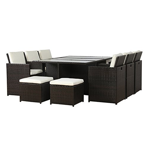 poly rattan lounge gartenset braun sofa garnitur polyrattan alu kein bausatz m bel24. Black Bedroom Furniture Sets. Home Design Ideas