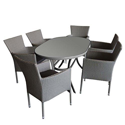 moderner alu gartentisch 140x90cm glastisch mit geriffelter tischglasplatte oval terrassentisch. Black Bedroom Furniture Sets. Home Design Ideas