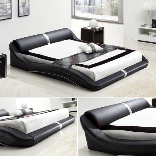 i-flair® - Designer Bett 160x200 cm Paola Schwarz #58