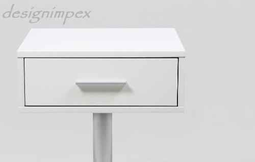 design nachttisch boxspringbett nachtkommode co 1 wei matt neu m bel24 m bel g nstig. Black Bedroom Furniture Sets. Home Design Ideas