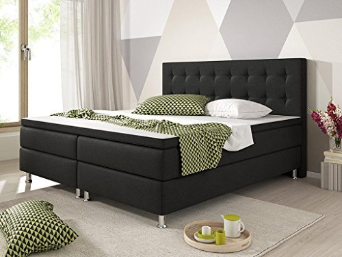boxspringbett palenko mit topper liegefl che 140 x 200 cm m bel24 shop. Black Bedroom Furniture Sets. Home Design Ideas