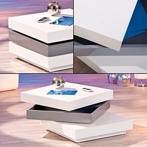 links 20800925 couchtisch wei hochglanz wohnzimmertisch wohnzimmer tisch design modern 70 70. Black Bedroom Furniture Sets. Home Design Ideas