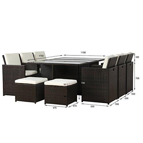 m bel24 m bel g nstig poly rattan lounge gartenset braun sofa garnitur polyrattan alu kein. Black Bedroom Furniture Sets. Home Design Ideas