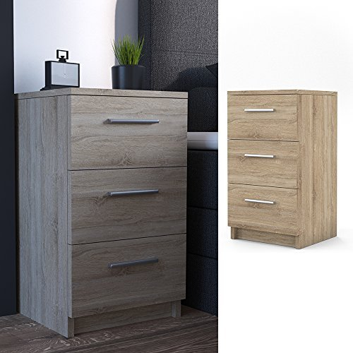 m bel24 m bel g nstig nachtkommode f r boxspringbett 66cm hoch sonoma nachtschrank nachttisch. Black Bedroom Furniture Sets. Home Design Ideas