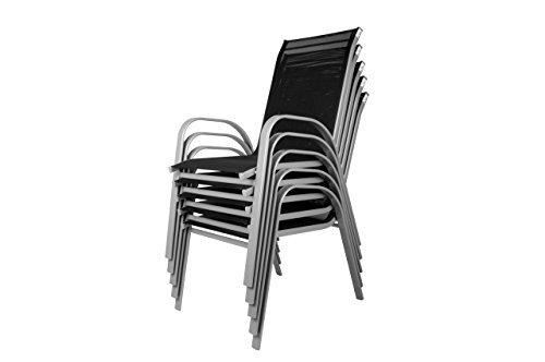 nexos 7 teiliges gartenm bel set gartengarnitur sitzgruppe sitzgarnitur aus stapelst hlen. Black Bedroom Furniture Sets. Home Design Ideas