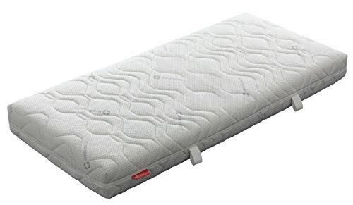 Badenia 3887810159 Bettcomfort Kaltschaummatratze mit Noppenauflage Trendline BT 310 H2 90 x 200 cm weiß
