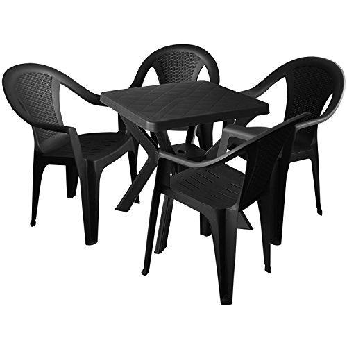 wetterfester bistrotisch campingtisch gartentisch balkontisch terrassentisch 70x70cm kunststoff. Black Bedroom Furniture Sets. Home Design Ideas