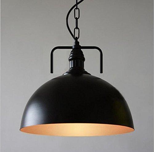 Industrie Vintage Pendelleuchte Orient Design, 1x E27 max. 60W, Ø 30 cm, Höhe 100CM, Schwarz Metall mit Kette