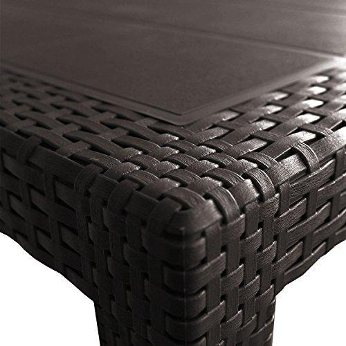 gartentisch 150x90x72cm rattan optik kunststoff anthrazit beistelltisch terrassentisch m bel24. Black Bedroom Furniture Sets. Home Design Ideas
