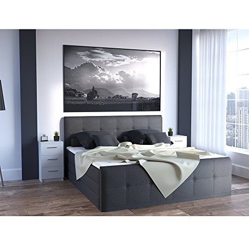nachtkommode f r boxspringbett 66cm hoch wei nachtschrank. Black Bedroom Furniture Sets. Home Design Ideas