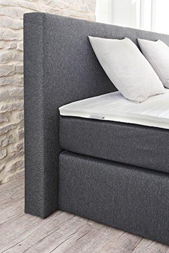 designer boxspringbett 140 200 cm bonell federkernmatratze inkl komfortschaum topper. Black Bedroom Furniture Sets. Home Design Ideas
