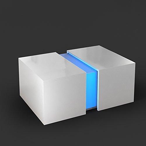 Couchtisch ozone wei multi led for Design couchtisch linos