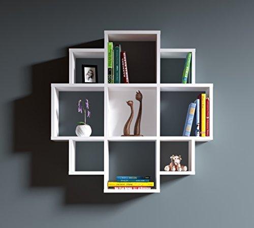 Homidea BLOOM Wandregal - Bücherregal - Hängeregal - Dekoregal für Wohnzimmer in modernem Design