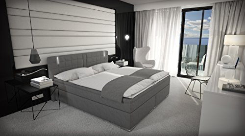 boxspringbett 180x200 cm doppelbett hotelbett inkl led m bel24 m bel g nstig. Black Bedroom Furniture Sets. Home Design Ideas