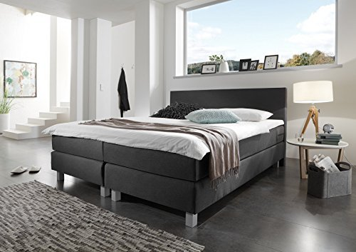 m bel24 m bel g nstig boxspringbett naturgut 180x200 cm schwarz. Black Bedroom Furniture Sets. Home Design Ideas