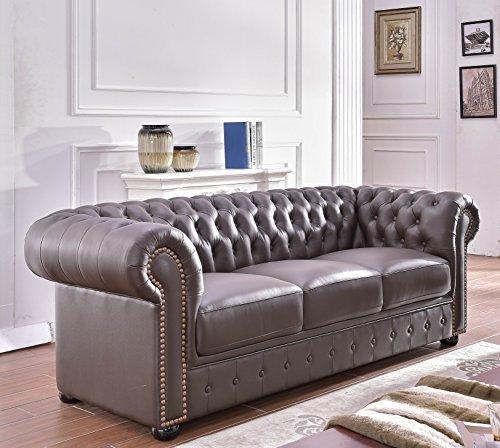 m bel24 m bel g nstig chesterfield ledersofa ledercouch. Black Bedroom Furniture Sets. Home Design Ideas