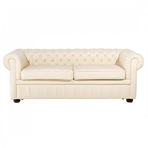 m bel24 m bel g nstig sofa leder beige chesterfield. Black Bedroom Furniture Sets. Home Design Ideas