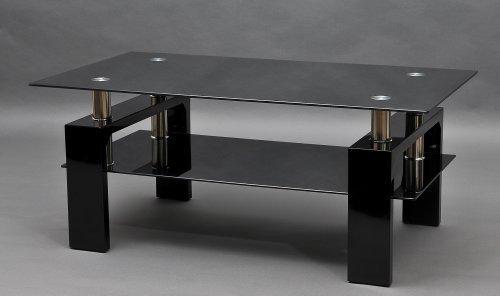 couchtisch diana xls hochglanz schwarzes gestell mit. Black Bedroom Furniture Sets. Home Design Ideas
