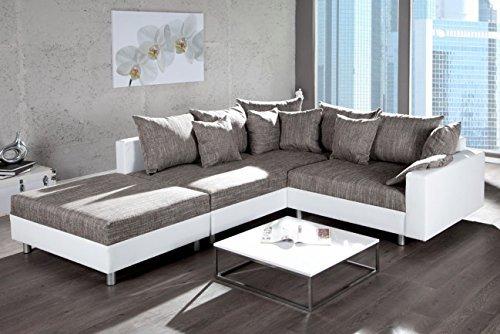 design ecksofa mit hocker loft verschiedene farben und bezugstoffe mit federkern ottomane. Black Bedroom Furniture Sets. Home Design Ideas